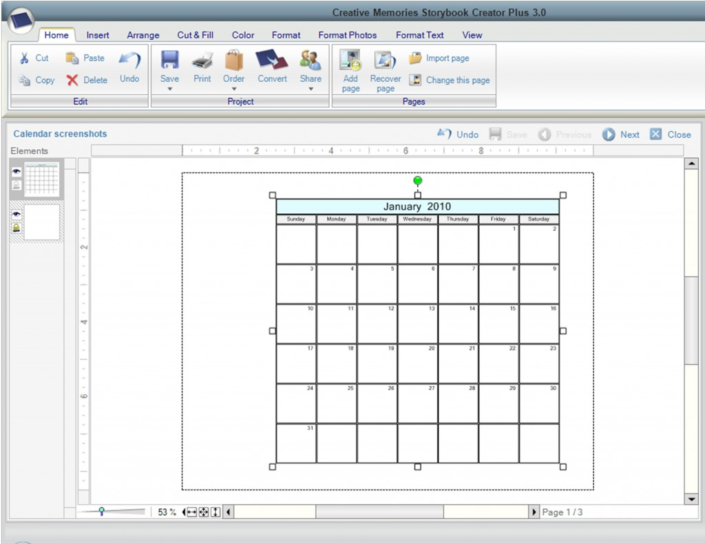 Calendar screenshots - Page 004