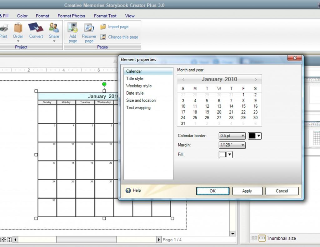 Calendar screenshots - Page 005