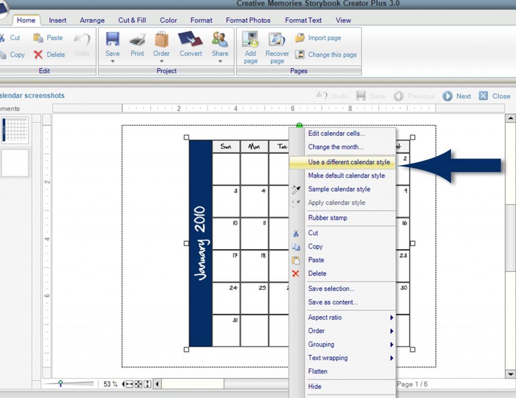 Calendar screenshots - Page 007