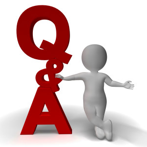 Question and Answer Q&A Sign And 3d Character Is Symbol For Support