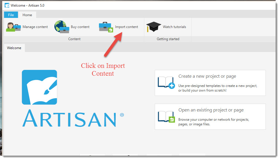 How To Import Content In Artisan