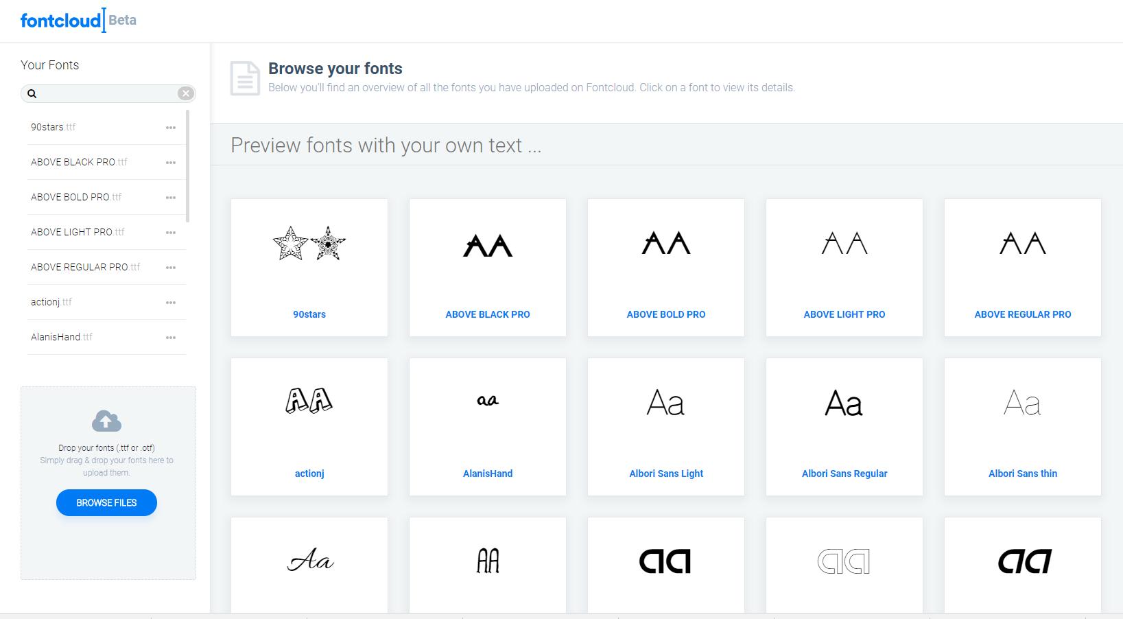 Font Cloud